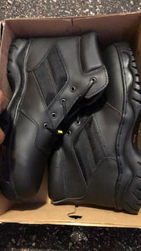 Rhino brand tough leather boots brand new , size 11, genuine leather, oil resistant