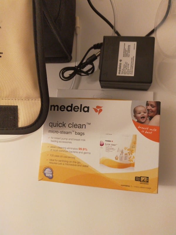 Medela breast pump in style advanced double starter and bmilk bag 1