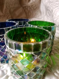 Candle Holder (green, blue or red) Reston, 20194