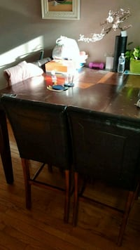 brown wooden table with chairs Mississauga, L5N 7B5