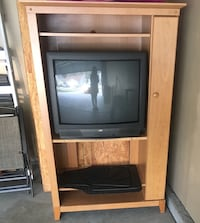 Brown and black wooden cabinet Summerville, 29485