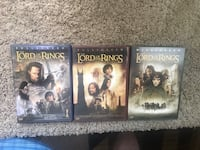 Lord of the rings DVD's  Hesperia, 92345