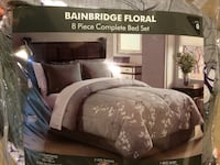 BRAND NEW Queen grey and purple bedset