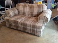 Brown and white plaid fabric 2-seat sofa Charles Town, 25414