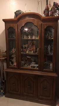 brown wooden framed glass display cabinet Calexico, 92231