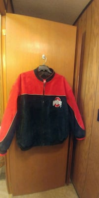 Ohio State Leather red and black zip-up jacket Dublin, 43016