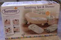 white and green Summer deluxe baby bather box BOWIE