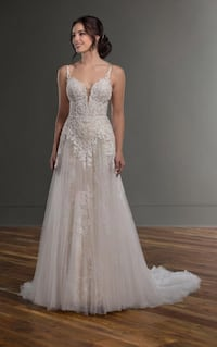 Martina liana Ivory and Java style: 1087 size: 10 women's bridal gown  FREMONT