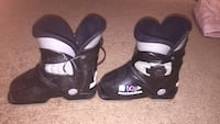 pair of black-and-white snowboard boots