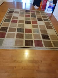 Multi colored squares area rug Markham