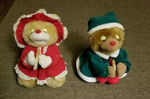 2 teddy bear christmas