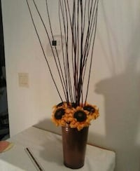 "$7 floral arrangement 5 ft tall,  metal vase 13"" no rust Sebastian, 32976"