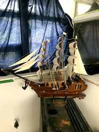 Hand crafted wooden ship bought in South America 1971 Cambridge, N3H 3P8