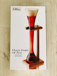 Libbey 32 OZ Glass with Wooden Stand NEW Calgary, T3Z 0Y2