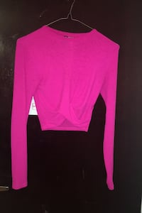 Pink crop top extra small
