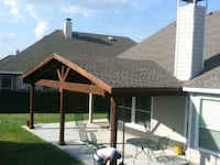 Roofed top patio cover Denison