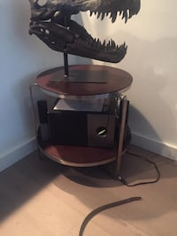 black and red TV stand 539 km