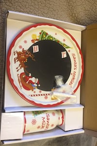 Christmas plate and cup