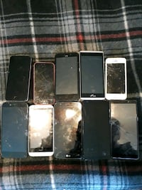 9 broke phones for parts
