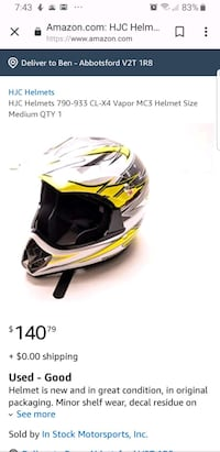 HJC Cl-X 4 Adult Red Size XS Motoxross Helm Abbotsford, V2T 3R7