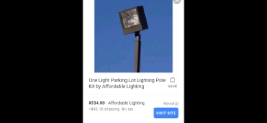 Parking lot commercial light with bulb ad0bb362-ff90-45a3-9b38-2bc2905e1598
