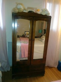 brown wooden framed glass display cabinet South Miami Heights, 33157