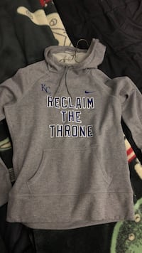 gray Nike KC pull-over hoodie with print