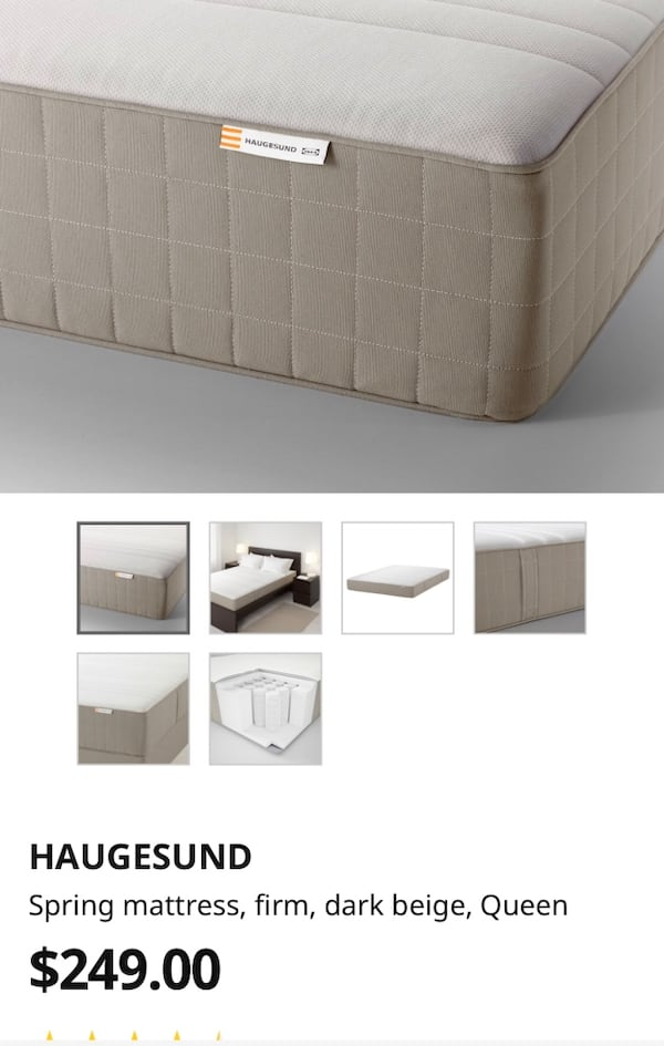 Queen bed frame $120 and mattress $100 (NEGOTIABLE must go in 3 days) abdbb699-c59d-48cd-908a-6e3e4511a7f1