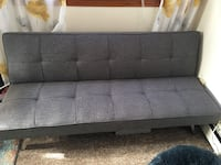 Futon:   Grey, clicker to open for sleeping. East Greenwich, 02818