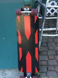 red and black wooden longboard Tacoma, 98403