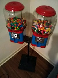 two red and blue gumball dispensers Decatur, 30032