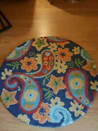blue, yellow, and green floral textile Nottingham, 21236