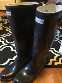 pair of black Hunter rain boots Washington, 20009