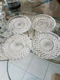 4 glass saucers