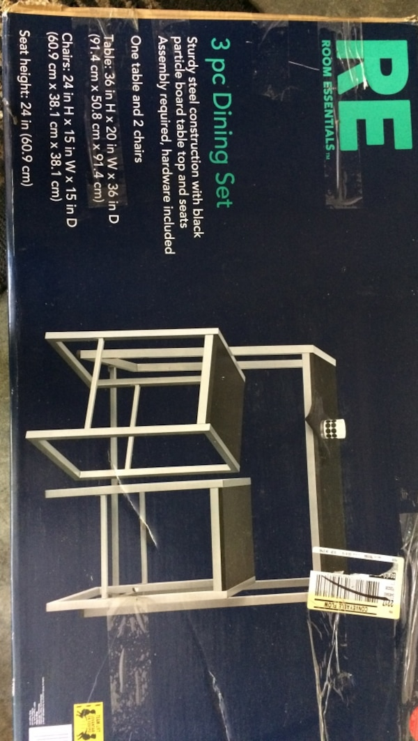 Used 3 Piece Room Essentials Dining Set Box For Sale In Fort Wayne