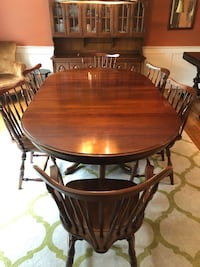 Beautiful solid cherry table with six chairs Canton, 02021