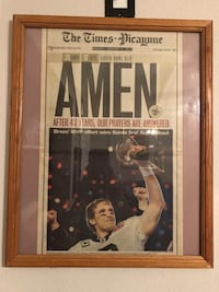 New Orleans Saints Super Bowl newspaper Drew Brees Kenner, 70062
