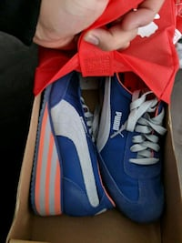 pair of blue-and-gray puma shoes.  Oshawa, L1H 8L7