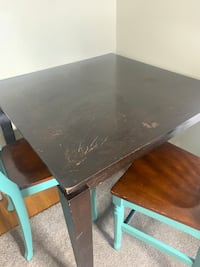 Tall Wooden Table with 4 Chairs Charlotte
