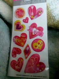 pink and yellow heart sticker pack Toledo, 43609
