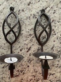 Iron candle walk sconces. Towson, 21204