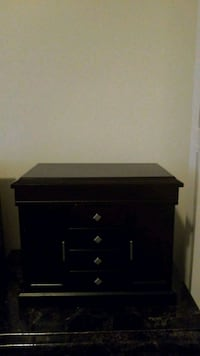 black wooden 3-drawer chest Edmonton, T5P 1S3