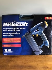 Mastercraft 3 In 1 Air Powered Finish Nailer Calgary, T2Y 3A1