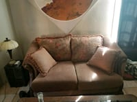 brown fabric 2-seat sofa and couch Jerome, 86331