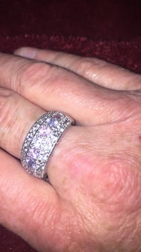 925 Stamped SS Genuine CZ, Pink Ice, & Amethyst Ring Cleveland, 44111