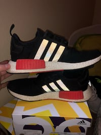 pair of black adidas NMD shoes with box Lubbock, 79410