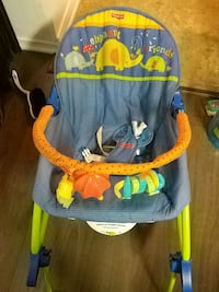baby's blue and orange bouncer Longueuil, J4L 3V7