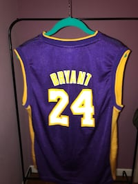 purple and yellow Lakers 24 jersey Los Angeles, 91411