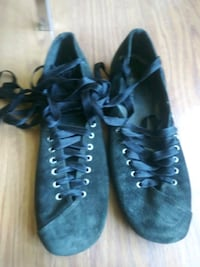 New harbor Lace up Flats size 8