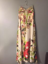 white, green, and red floral spaghetti strap dress Evansville, 47711